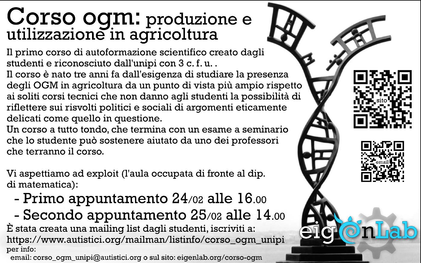 Corso OGM 2014